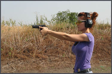 Handgun training for women in Dallas TX